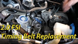 How To Timing Belt Replacement Seat / Skoda / Volkswagen 2.0 FSI